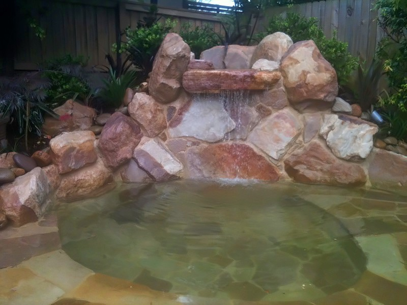 Water features sydney pond waterfall