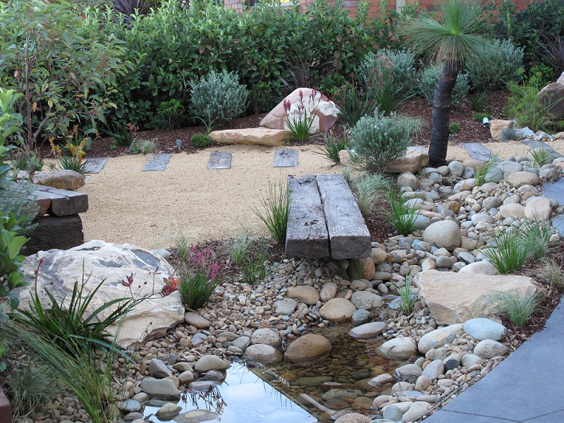 Northern beaches modern zen native garden landscapers sydney for Native plant garden designs