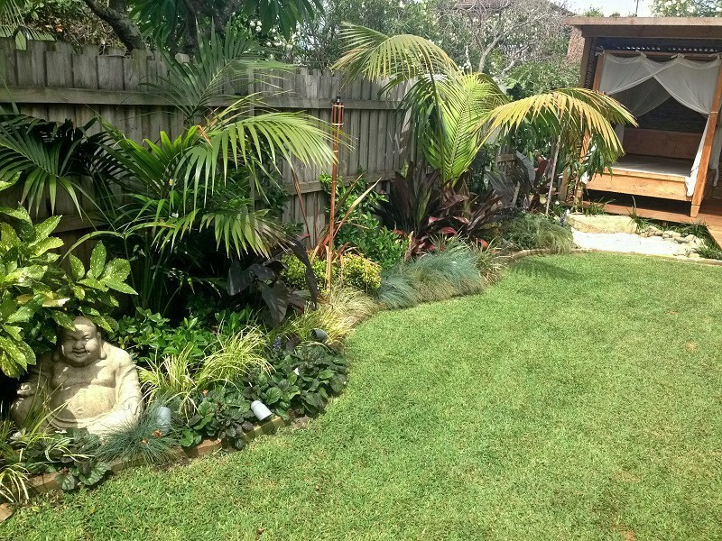 Landscaping work photos of landscaped gardens sydney for Tropical garden design
