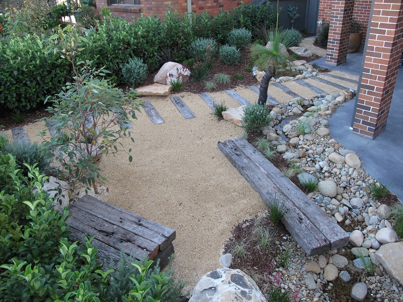 Northern beaches modern zen native garden landscapers sydney for Modern front garden ideas australia