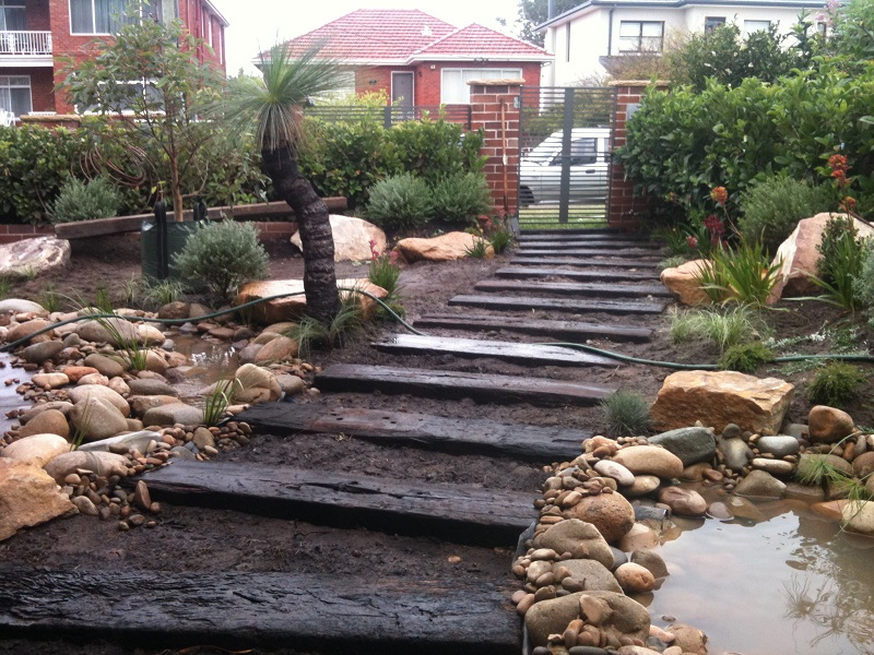 Northern beaches modern zen native garden landscapers sydney for Australian native garden design ideas