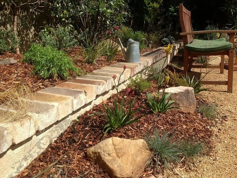 Before and after landscaping photos landscapers sydney for Native garden designs