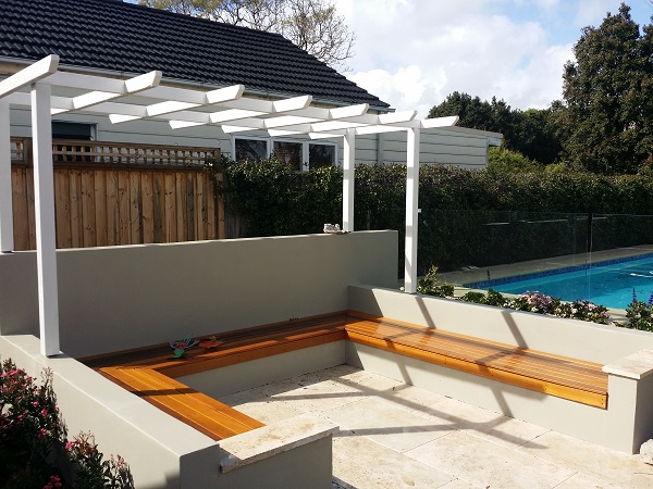 garden arbour sydney northern beaches seating area timber