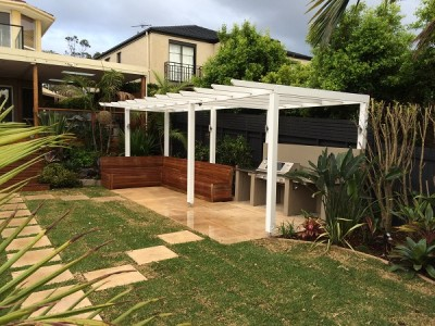 paving timber day bed seating backyard garden landscaping northern beaches