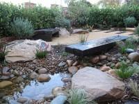 finished landscape garden construction