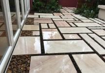 sawn sandstone paving sydney courtyard garden
