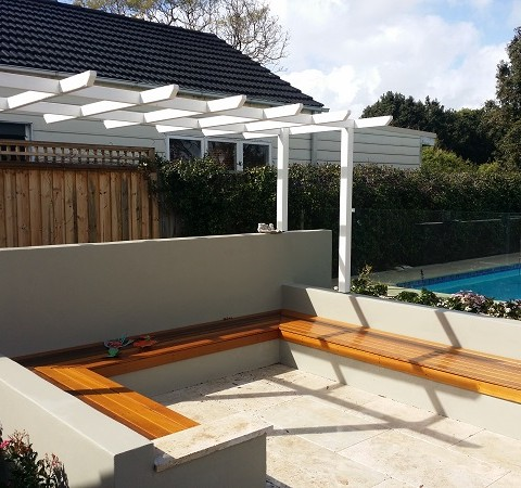 Paving Garden Arbour Bench Seating Northern Beaches
